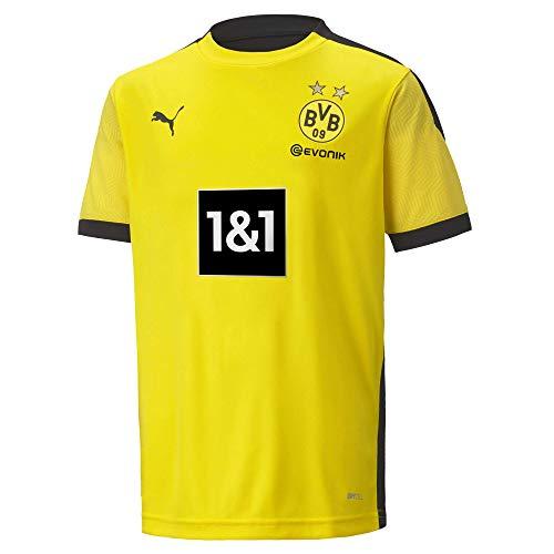PUMA T-Shirt BVB Training Jersey Jr New, Cyber Yellow-Puma Black, 128, 931128