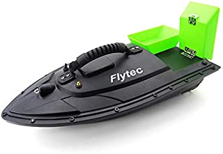 Fishing Bait Boat, Smart RC Bait Boat Toy, 500m Remote Control 1.5kg Loading Bait Boat Waterproof Wireless RC Boat Depth Fish Finder Ship with Double Motors, for Beach Sea Pool Fishing (Green)