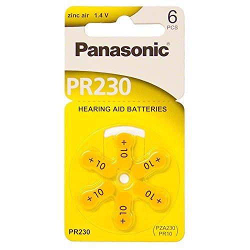 Panasonic Hearing Aid Batteries Size 10, PR70 (60 Batteries)