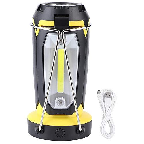 Jarchii Langlebige USB-Ladebeleuchtung Werkzeug Taschenlampe, Außenleuchten, für Bauarbeiten Camping Wandern Angeln Stromausfälle