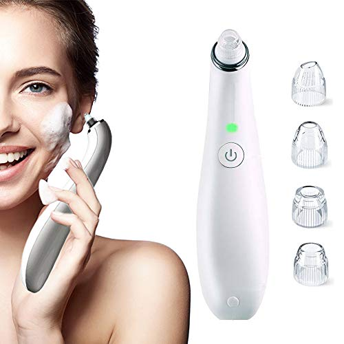 Blackhead Remover Vacuum- 2020 Upgraded USB Rechargeable Acne Comedone Pore Cleaner Extractor Professional Tool Machine with 4 Adjustable Suction Power and 4 Replacement Probes