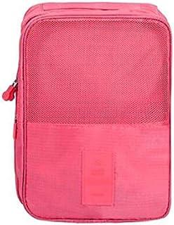 شنطة سفر مضادة للماء باللون الوردي لتخزين الأحذية في الهواء الطلق