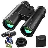 12X42 Binoculars for Adults with Adjustable Phone Adapter- DIAHOUD HD 18mm Compact Binoculars for Bird Watching Concerts Sports Hunting Binoculars Bak4 Prism Fmc Lens- Weak Light Vision Binoculars
