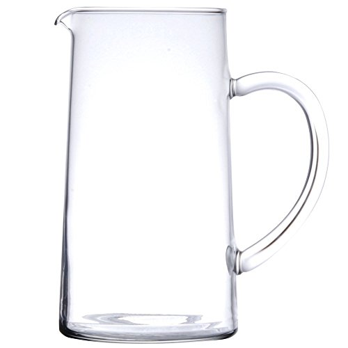 James Scott 44 Ounce Capacity Glass Clear Pitcher With Pour Lip -7 7/8