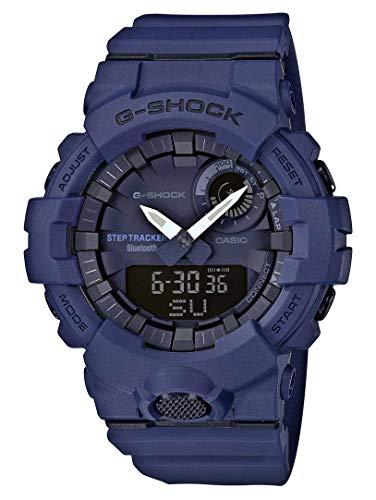 Casio G-SHOCK Orologio, Steptracker/Pedometro, Sensore di movimento, 20 BAR, Azzuro, Analogico - Digitale, Uomo, GBA-800-2AER