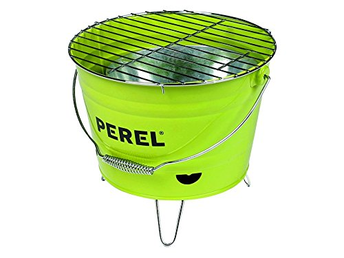 Perel Eimergrill, 29 x 27 x 22,5 cm, schwarz/grün, BB100102