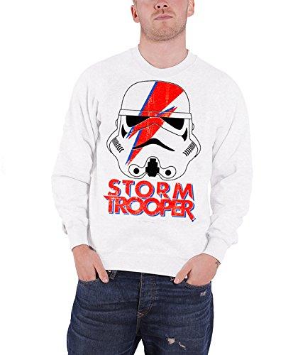 STAR WARS Trooping Sane Sweatshirt (White), Large