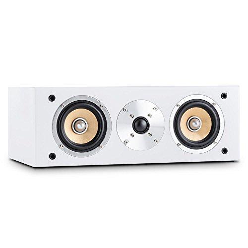 auna - Line 500 CS-WH, Center-Lautsprecher, Center Speaker, 60 Watt RMS, 2-Wege System, passiv, Zwei 10cm (4