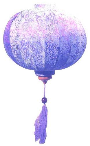 Lavender Vietnamese Silk Lantern