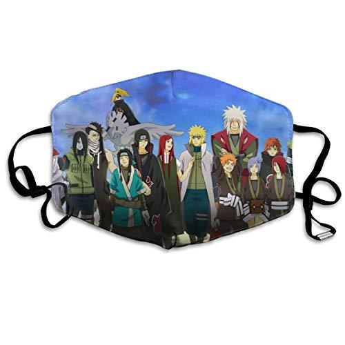 Soft Anti Dust Face Mask, Anime Naruto Shippuuden Sasori Jiraiya Haku Deidara Poster Washable Reusable Filter Masks with Elastic Earloops, PM2.5 Healthy Safety Warm Breathable Respirator Mask
