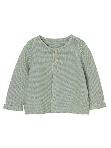 Vertbaudet Strickjacke für Neugeborene, Baumwolle hellgrün 62
