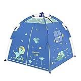 Kids Play Tent De Juegos Infantiles Carpas Dinosaurio Tema De Los Niños Carpa Plegable Tienda del Juego De Casa De Juegos For Niños Regalos For Niños Interior (Color : Blue, Size : 120 * 120 * 108cm)