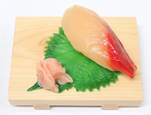 食品サンプル 上にぎり(ハマチ) 寿司下駄仕様 スマホスタンド スマートフォンスタンド タブレットスタンド