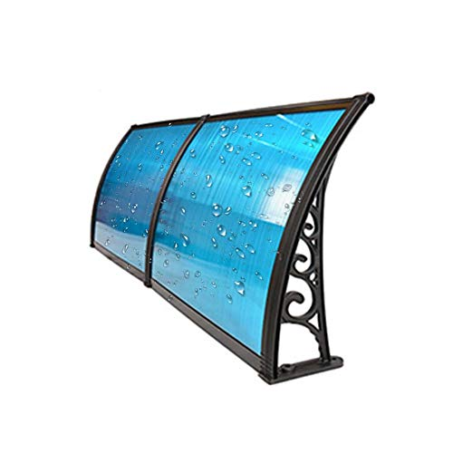QIANDA Sun Shade Window Awning, UV Protection Snow Door Canopy Blue Translucent Sheet Anti-aging, for Backyard Porch (Size : 60cmx120cm)