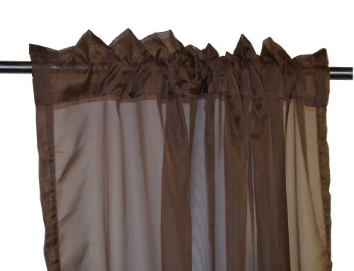 Maison Condelle 2.02015405408443E+16 Adrien Lewis Basic Elegance Sheer Rod Pocket Panel, 54