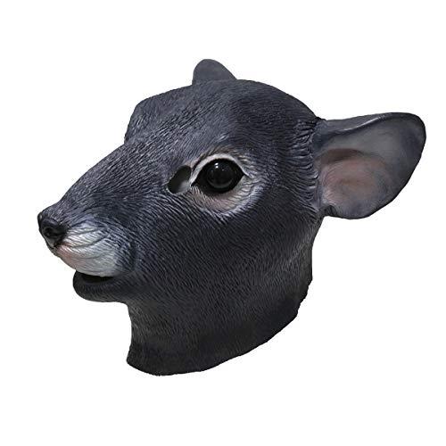 HENGYUTOY MASK Latex Ratten-Kopfmaske Tier Weihnachten Halloween Verkleidung Party Dekorationen Zubehör Maus Kostüm