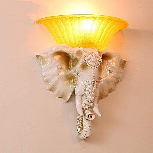 Wandlamp olifant individualiteit creatieve trap bar woonkamer hotel gang slaapkamer wandlamp Retro Jixiang bedlampje slaapkamer Abbigliam