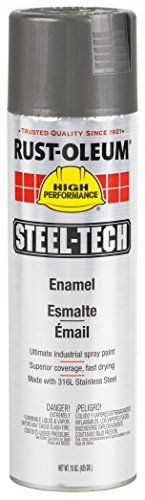 Rust-Oleum 268863 Steel-Tech Spray Paint, 20-Ounce, Stainless Steel, 6-Pack