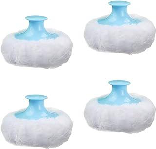 SOLUSTRE 4Pcs Round Soft Baby Loose Powder Puff Practical Baby Body Plush Powder Puff Baby Prickly Heat Powder Puff for Ne...