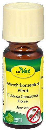 cdVet Afweermiddelconcentraat paard 10 ml - bescherming tegen teken & mijten - puur plantaardig - langdurige bescherming - eenvoudig gebruik - op geraniol- en theeboomolie - etherische oliën -