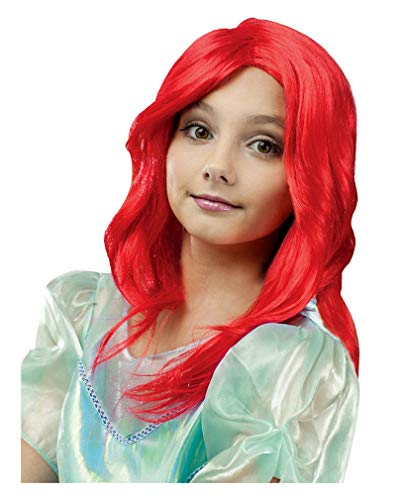 Sirène perruque rouge enfants