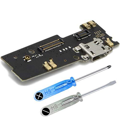 MMOBIEL Repuesto Conector Dock de Carga Compatible con Motorola Moto E4 Plus 5.5Pulg Conex. Micrófono Altavoz instalados
