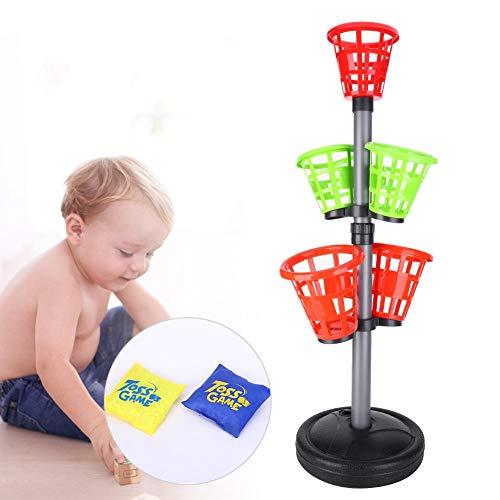Alomejor Juego de Lanzamiento de Sacos de Arena Juego de Lanzamiento de Sacos de plástico Juego de Tiro de Juguete para niños Juego