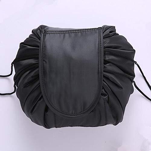 Storage basketPolyester 48 * 48cm Lazy Bag Cosmetic pliant Sac de rangement avec cordon de serrage,Noir