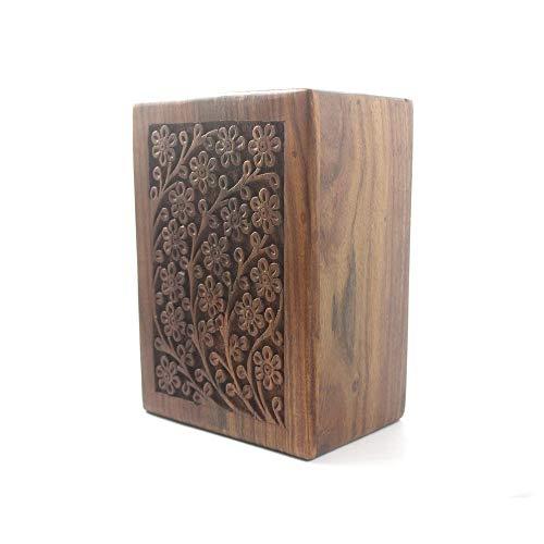 BATRA ASSOCIATES mischnatraktat Associates Wunderschön Handgefertigt und Handarbeit Tree of Life Gravur Holz Urns für Echthaar Asche Erwachsene von S.B Arts Holz Box (5x 3x 2)