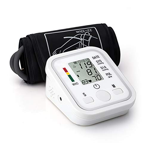 Blood Pressure Monitor Automatic Digital Upper Arm BP Cuff, 99-Reading Memory, 2-Users Mode, Speaker,Large LCD Display-Universal Cuff Size (S) Automatic