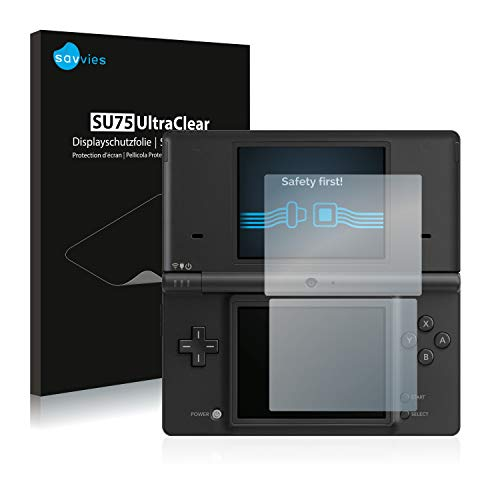 Savvies 18x Schutzfolie kompatibel mit Nintendo DSi Displayschutz-Folie Ultra-transparent