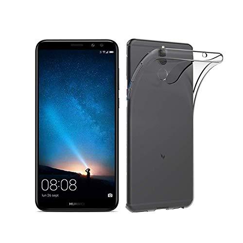 Preisvergleich Produktbild NEW'C Hülle für Huawei Mate 10 Lite [Ultra transparent Silikon Gel TPU Soft] Cover Case Schutzhülle Kratzfeste mit Schock Absorption und Anti Scratch kompatibel Huawei Mate10 Lite