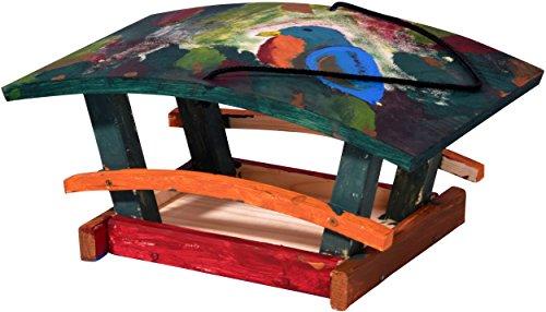 dobar 26051e Vogelhaus Bausatz für Kinder, aus Holz zum Aufhängen, 29 x 18 x 14 cm, bunt - 4