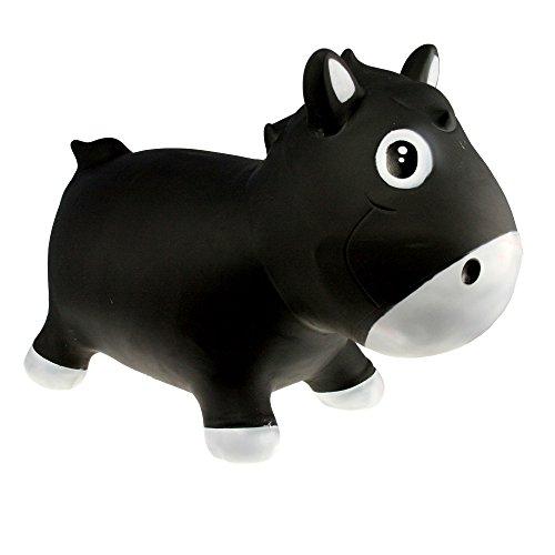 Vital Innovation Kiddzfarm Animal Sauteur Harry Le Cheval Noir 1800 g