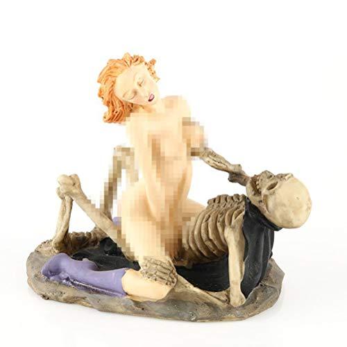 BESTOYARD Halloween caveira decoração de horror novidade corpo humano, brinquedo de comédia, acessório humano, enfeite de cabeça de crânio de resina (RS-267) para artigos de festa de Halloween