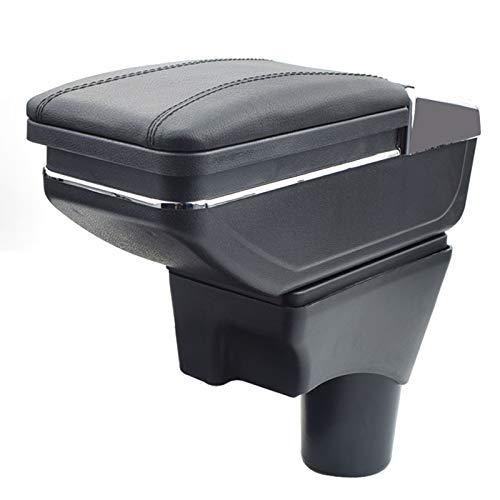8X-SPEED for Nissan Versa Sunny 2012-2018 Car Armrest Accessories Centre Console Storage Box Arm Rest Black