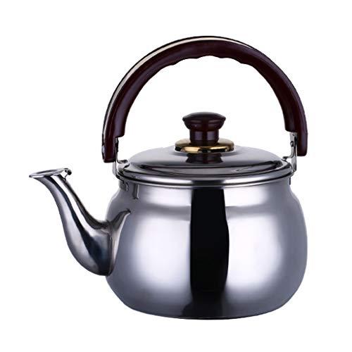 LCFF Bouilloire En Acier Inoxydable Cuisine À La Maison Cuisinière À Gaz Général Sifflet Automatique Santé Bouilloire (Capacité : 4.7L)