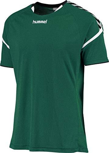 hummel Kinder Auth. Charge Short Sleeve Poly Jersey Trikot,grün(Evergreen),104