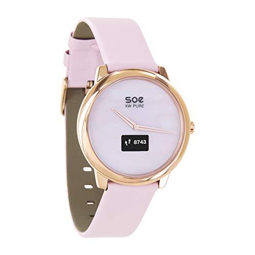 X-WATCH │ SOE XW Pure │ Smartwatch Damen elegant – Damen Uhr rosegold – Fitness Tracker Damen – Damen Fitnessarmband