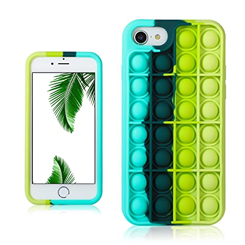 JoySolar Black Green for iPhone 6/6S/7/8/SE 2020 Case Silicone CaseDesign Character Funny Cute Unique Fidget Aesthetic Cover Cases for Boys Girls Youth((for iPhone 6/6S/7/8/SE 2020 4.7')