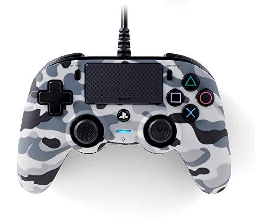 Nacon Mando Compact PS4 oficial camuflaje gris