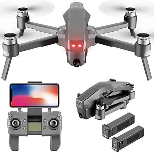 J-Love Drone GPS con cámara 4K para Adultos, Drones RC Quadcopter Head con Amortiguador, Tiempo Vuelo 28 Minutos, Motor sin escobillas,Gran Angular de120°, 90 ° Ajustable, Drone Plegable