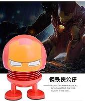 TopOne マーベルアベンジャーズカーオーナメントアクションフィギュアスーパーヒーローモデルシェイキングヘッド人形車の装飾 鉄人