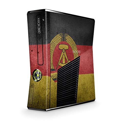 Skins4u Design modding Aufkleber Vinyl Skin Klebe Folie Skins Schutzfolie kompatibel mit Xbox 360 Slim DDR