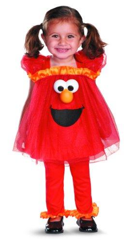 Girl's Sesame Street Frilly Light Up Elmo Costume, 2T