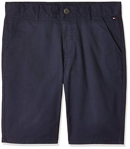 Tommy Hilfiger Essential Chino Shorts Short, Azul (Blue Cbk), (Talla del Fabricante: 98) para Niños
