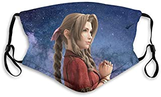 Final-Fantasy-Aerith-Remake Kids Adult Anti-Dust Facial Mouth Cover Mask Balaclava Scarf