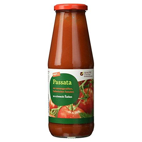 tegut... passierte Tomaten 690 g - Passata im Glas - aus italienischen, sonnengereiften Tomaten - für Tomatensoßen, Suppen, Pastasaucen oder Pizza