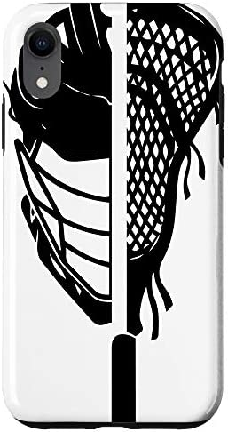 iPhone XR Guys Lacrosse Helmet And Sticks Cool Sports lover gifts Case product image