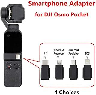 Leoie for DJI Osmo Pocket Smartphone Adapter Micro USB (Android) Type-C iOS for OSMO Pocket Handheld Gimbal Accessiories Android Reverse